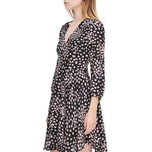 Rebecca Taylor Aster Floral Long Sleeve Silk Dress